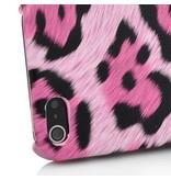 Накладка бампер для iPhone 5/5s леопардового цвета Розовая