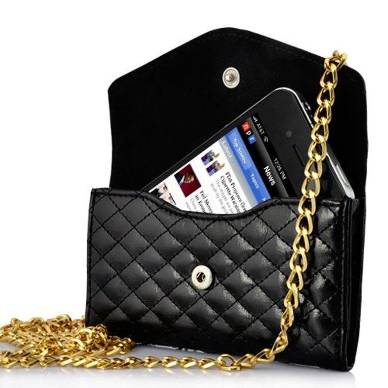 Сумочка на цепочке для iPhone 4/4s Черная