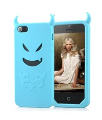 Чехол чертик Devil для iPhone 5/5s Голубой