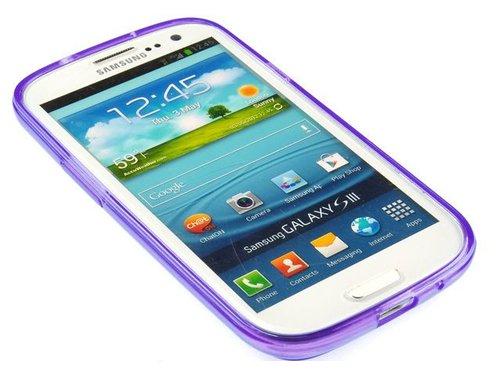 Полиуретановый чехол накладка для Galaxy S3 Сиреневый
