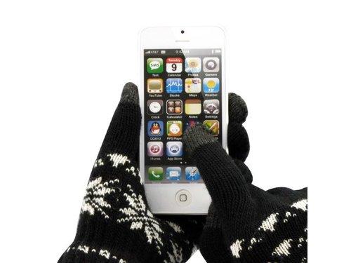 Зимние сенсорные перчатки iPhone iPad Samsung Черные