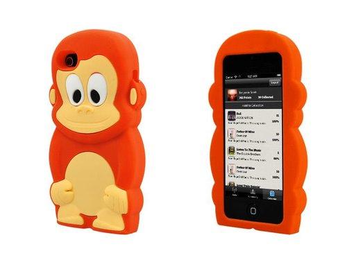 Силиконовая накладка обезьяна для iPhone 5/5s Рыжая
