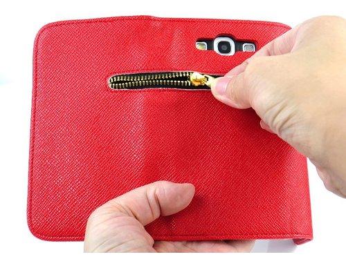 Чехол с замочком для Galaxy S3 i9300 Красный