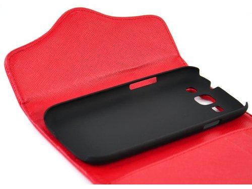 Чехол кошелек с карманом для Galaxy S3 i9300 Черный
