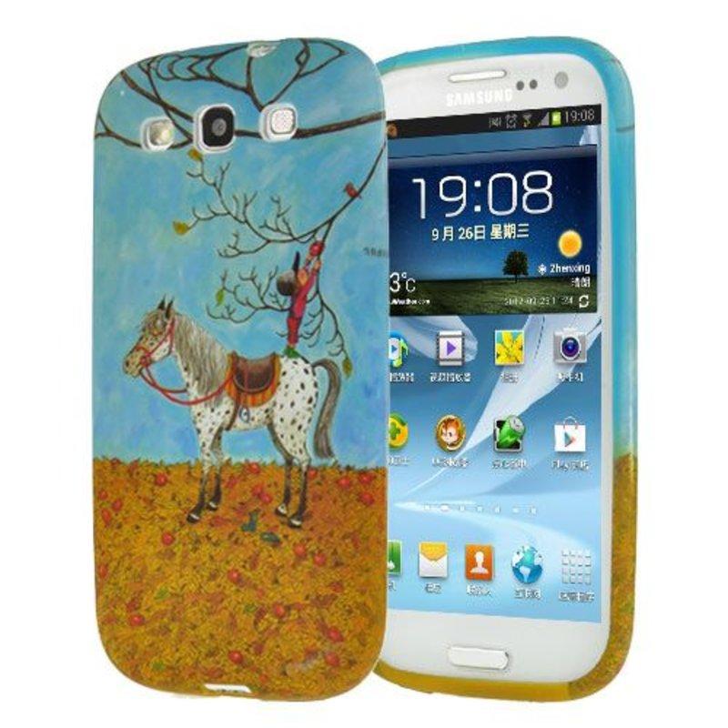 Чехол мальчик и лошадка Galaxy S3