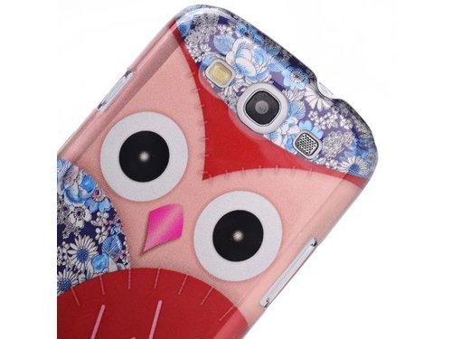 Крышка Сова с цветочками для Galaxy S3 i9300