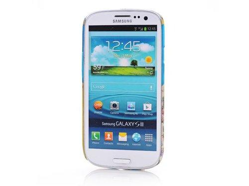 Чехол Сова и цветы для Galaxy S3 i9300