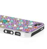 Накладка со стразами для iPhone 5/5s Сиреневая