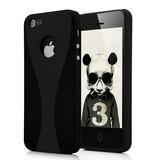 Пластиковая накладка для iPhone 5/5s Бокал Черная