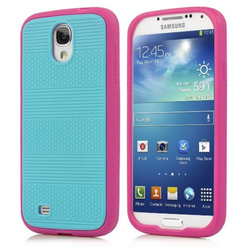 Голубая накладка чехол для Galaxy S4