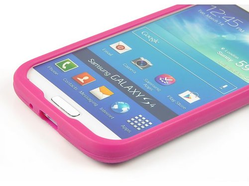 Накладка чехол для Galaxy S 4 Голубая