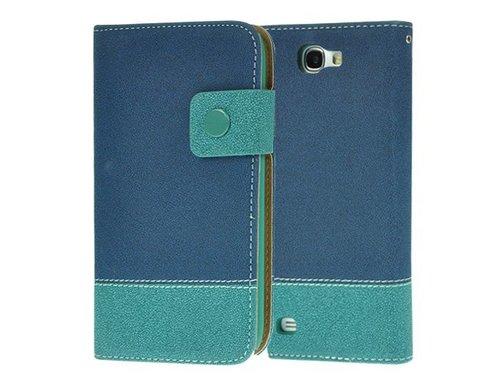 Стильный кошелек портмоне Galaxy Note 2 Сине-голубой