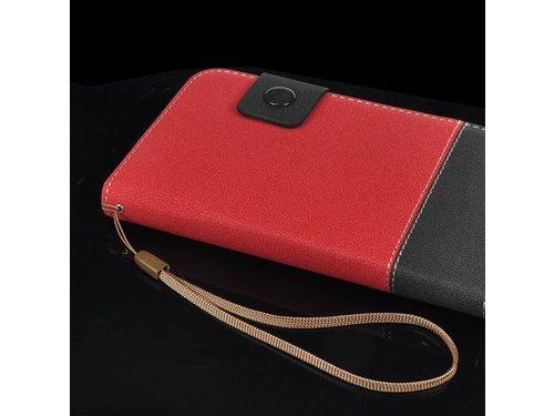 Кошелек с кармашками для Galaxy Note 2 Черно-красный