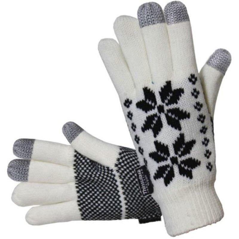 Touch Screen перчатки со снежинками зимние