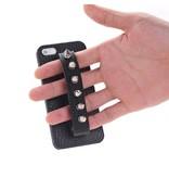 Чехол с ремешком и заклепками для iPhone 4/4s