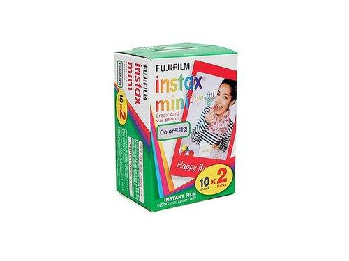 Кассета пленка Fuji Instax с цветной рамкой 20 фото