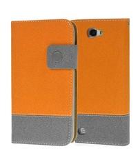 Портмоне чехол для Galaxy Note 2 Оранжжевый