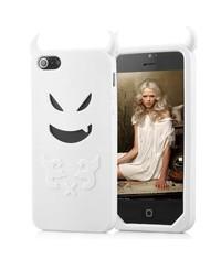 Чехол чертик для iPhone 5/5s Белый