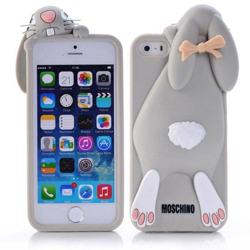 Чехол кролик Moschino для iPhone 5/5s Серый