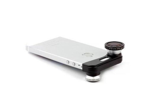 Фишай Макро Расширение линза 3в1 для iPhone 5/5s Серая