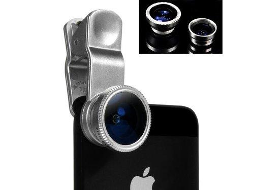Линза прищепка для iPhone iPad iPod Samsung Galaxy