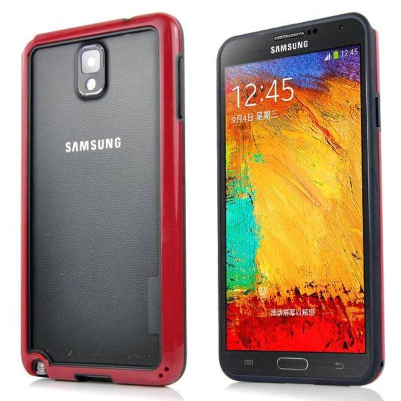 Бампер чехол для Samsung Galaxy Note 3 Красный
