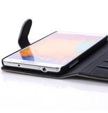 Кошелек с кармашками для Galaxy Note 3 Коричневый