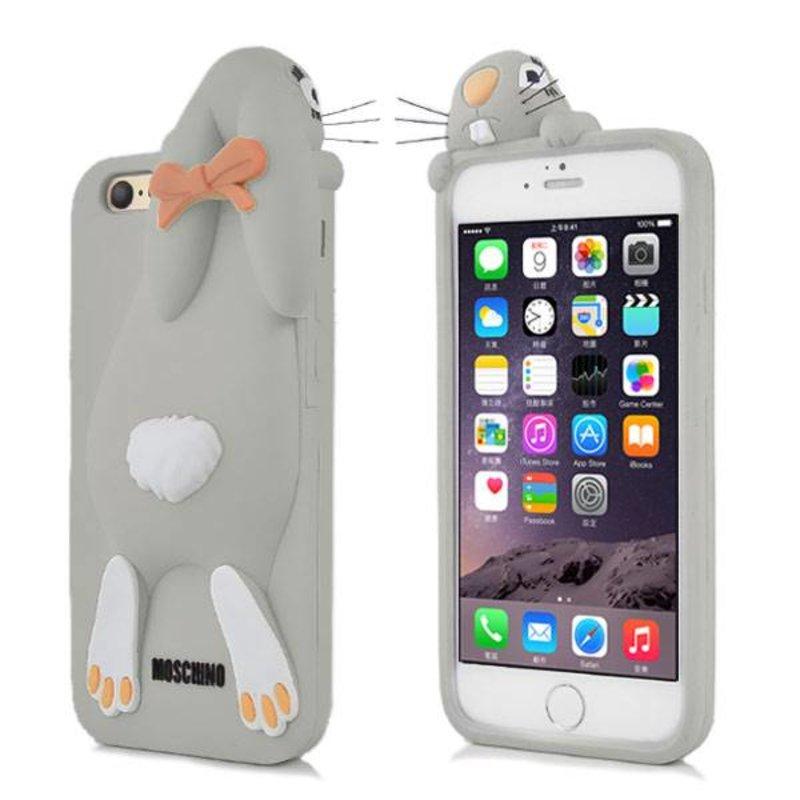 Чехол кролик Moschino для iPhone 6 Серый