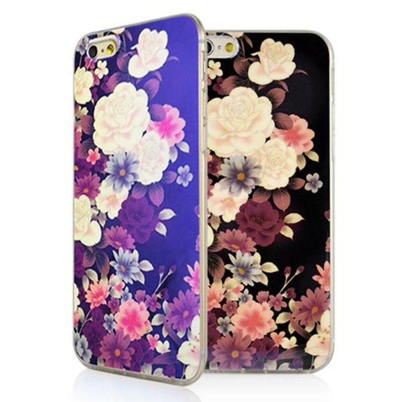 Накладка цветочки ТПУ для iPhone 6