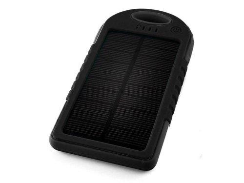 Портативный аккумулятор 5000 мАч на солнечной батарее Черный