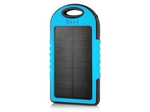 Внешний аккумулятор 5000 мАч на солнечной батарее Синий