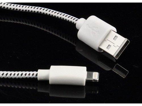 Кабель Lightning для зарядки iPhone 5/5s/6/6 Plus/iPad тканевый
