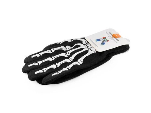 Перчатки Скелет для сенсорных экранов зимние