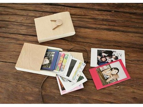 Деревянная коробочка для Instax Mini / Pic 300