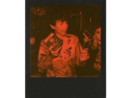 Черно оранжевая кассета Polaroid 600
