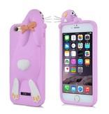 Чехол кролик сиреневый Moschino iPhone 6/6s