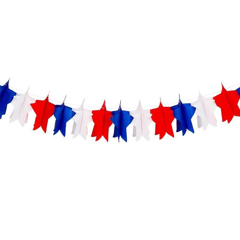 Гирлянда для американской вечеринки Триколор