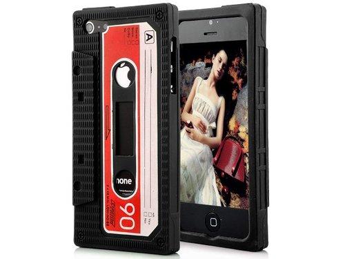 Чехол кассета 90-х для iPhone 5/5s Черный