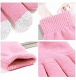 Сенсорные перчатки розовые