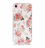 Задняя мягкая крышка для iPhone 7 Цветочки