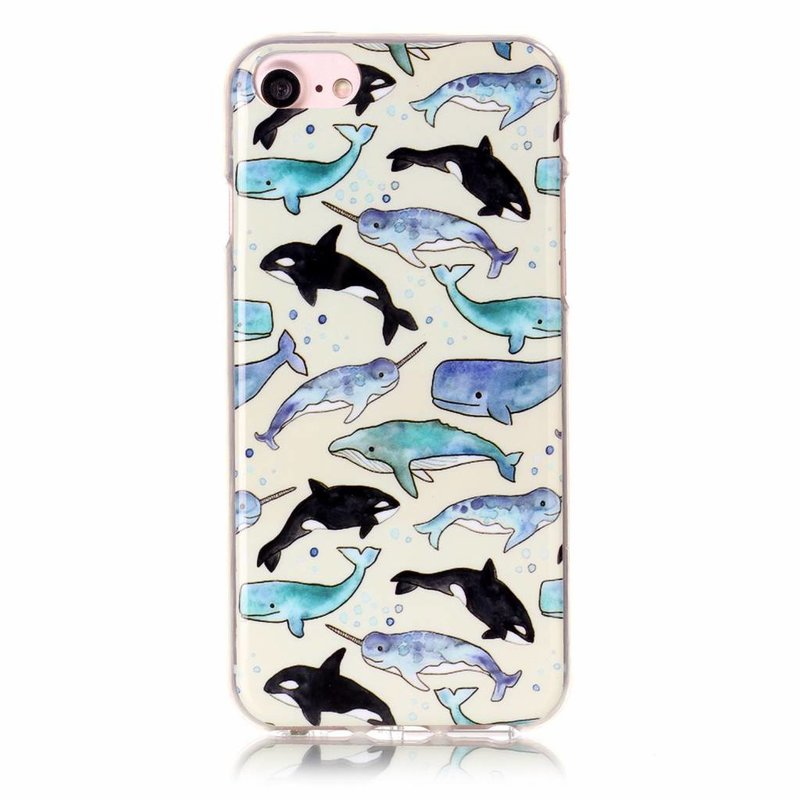 Задняя крышка для iPhone 7 Дельфины