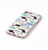 Задняя мягкая крышка для iPhone 7 Дельфины