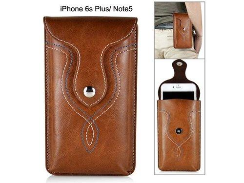 Кобура кожаная iPhone 6/6s/7 Plus Samsung Galaxy Note 7/5/3/4