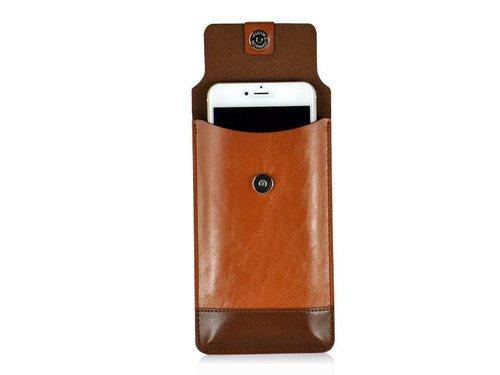 Кобура конверт для iPhone / Samsung Galaxy Коричнево-бежевый