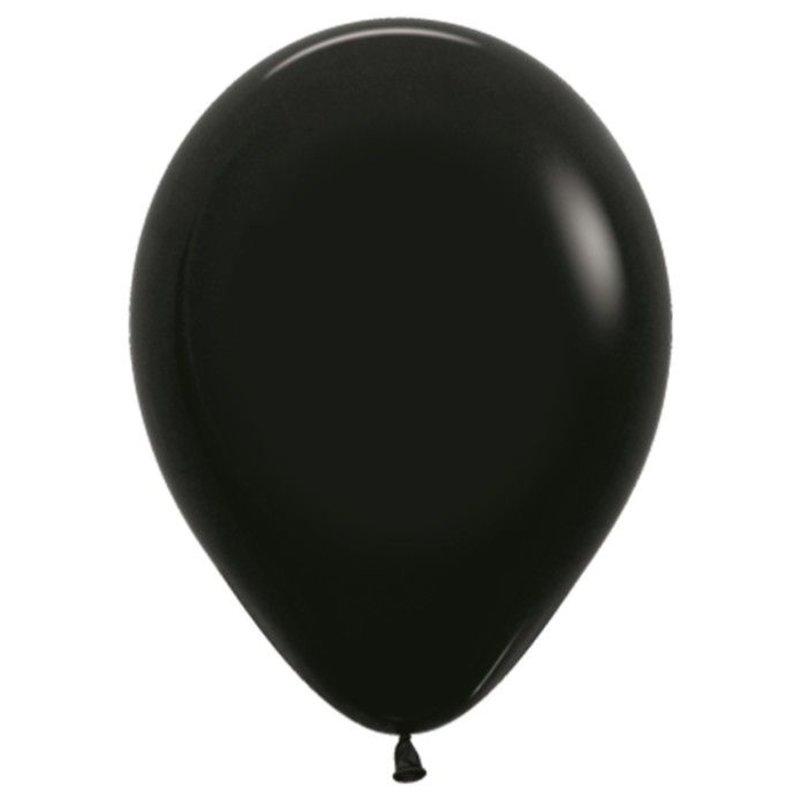 Черные надувные шарики 10 шт 25 см