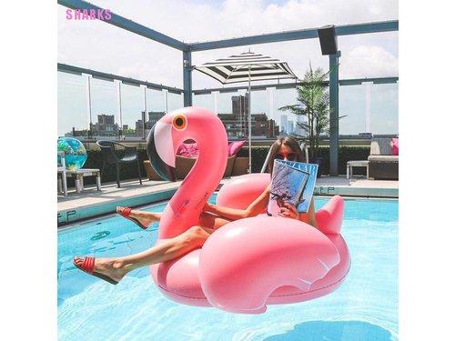 Надувной розовый фламинго матрас в аренду