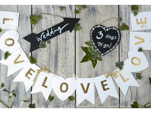 Гирлянда Love Love Love для свадьбы