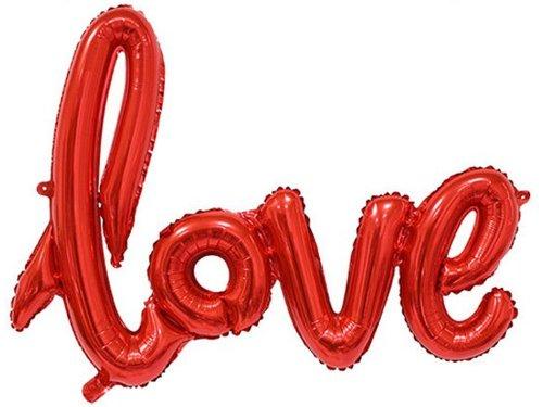 Надувной шар Love красный