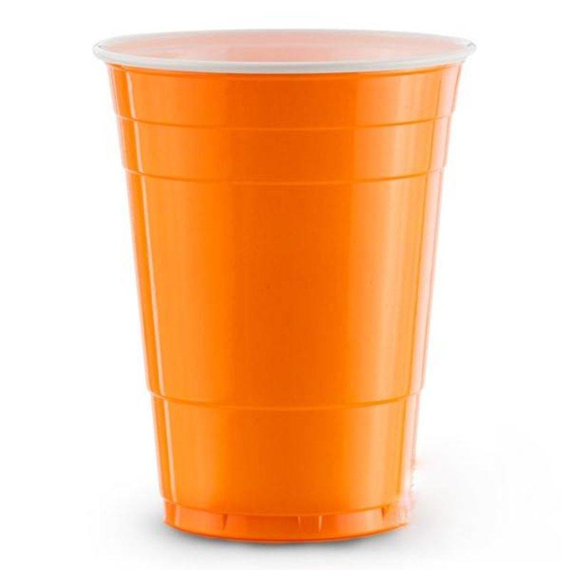 Оранжевые американские стаканчики для вечеринки
