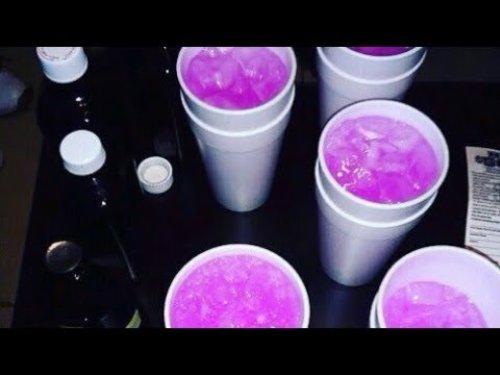 Белые стаканы для вечеринок Purple Drank 250 мл